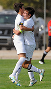 jt101817d/sports/jim thompson/ left to right -St. Pius' #7 Marcus Garcia and#11 Julian Garcia celebrate their goal as Marcus passed the ball to Julian for the goal in their game Wednesday afternoon against Hope.  2017. (Jim Thompson/Albuquerque Journal)
