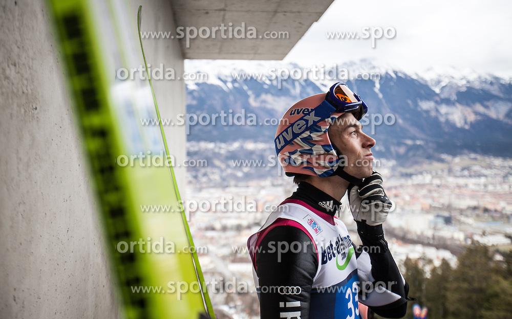 04.01.2014, Bergisel Schanze, Innsbruck, AUT, FIS Ski Sprung Weltcup, 62. Vierschanzentournee, Probesprung, im Bild Michael Neumayer (GER) // Michael Neumayer (GER) during Trial Jump of 62nd Four Hills Tournament of FIS Ski Jumping World Cup at the Bergisel Schanze, Innsbruck, Austria on 2014/01/04. EXPA Pictures © 2014, PhotoCredit: EXPA/ JFK