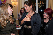 OPHELIA THORP; ELIZABETH SALTZMAN; CODIE MALONE, Kate Reardon and Michael Roberts host a party to celebrate the launch of Vanity Fair on Couture. The Ballroom, Moet Hennessy, 13 Grosvenor Crescent. London. 27 October 2010. -DO NOT ARCHIVE-© Copyright Photograph by Dafydd Jones. 248 Clapham Rd. London SW9 0PZ. Tel 0207 820 0771. www.dafjones.com.