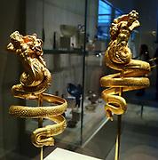 Pair of gold armbands.  Greek ca. 200 B.C.