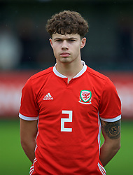 NEWPORT, WALES - Monday, October 14, 2019: Wales' Neco Williams lines-up before an Under-19's International Friendly match between Wales and Austria at Dragon Park. (Pic by David Rawcliffe/Propaganda)