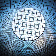 The steel and glass dome that encapsulates the new Fulton Center, a subway hub in downtown Manhattan. Up to 300,000 passengers a day are expected to pass through Fulton Center.