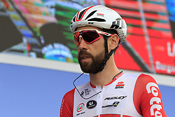 Thomas De Gendt (BEL) Lotto-Soudal at sign on before the start of Stage 4 of La Vuelta 2019 running 175.5km from Cullera to El Puig, Spain. 27th August 2019.<br /> Picture: Eoin Clarke | Cyclefile<br /> <br /> All photos usage must carry mandatory copyright credit (© Cyclefile | Eoin Clarke)