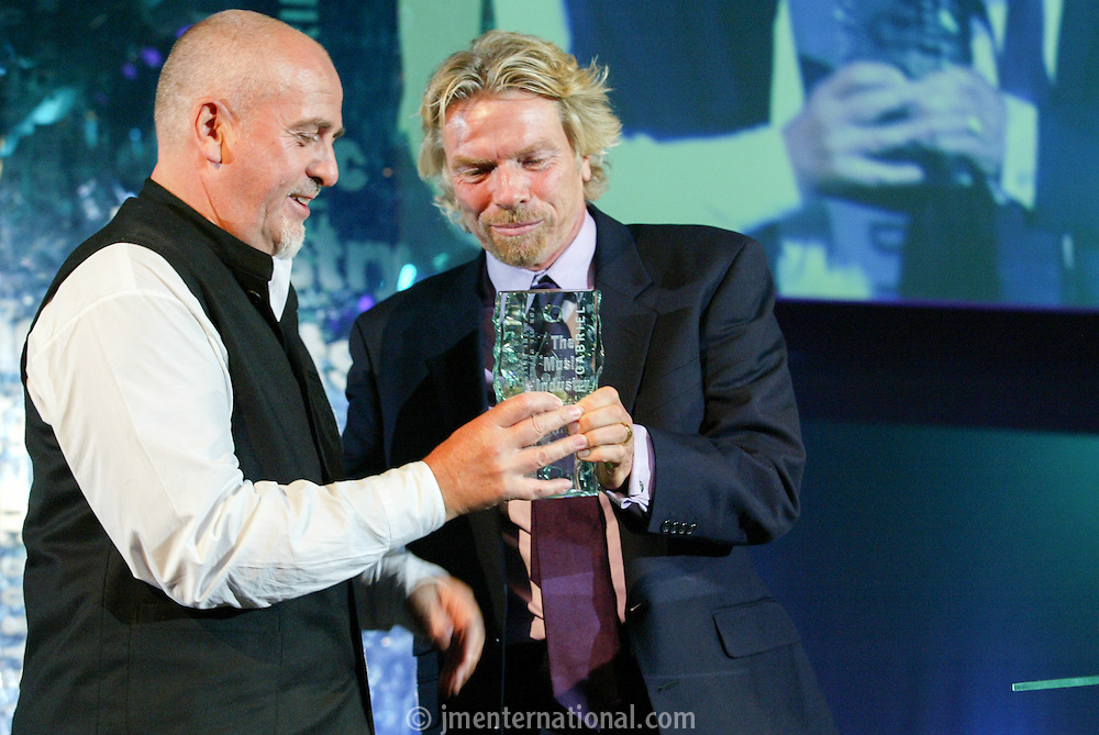 Peter Gabriel and Sir Richard Branson