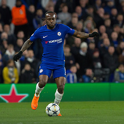 Victor Moses of Chelsea during the Champions League match between Chelsea and Brcelona at Stamford Bridge, London on Tuesday 20th February 2018.  (C) Steven Morris | SportPix.org.uk