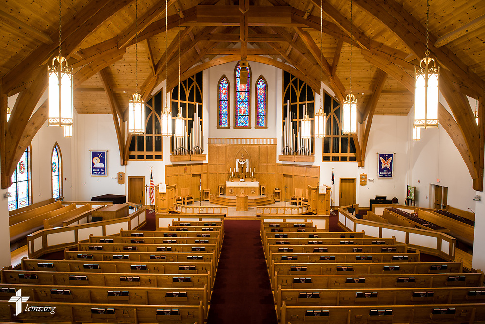 The sanctuary at St. John's Lutheran Church, Conover, N.C, on Friday, April 21, 2017. LCMS Communications/Erik M. Lunsford
