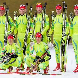 20121119: SLO, Biathlon - Slovenian biathlon team at practice session at Pokljuka