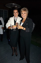 Left to right, LORAINE CHASE and ANGELA RIPPON at a party to celebrate the 25th anniversary of leading restaurant Le Caprice held at The Serpentine Gallery, London on 3rd October 2006.<br /><br />NON EXCLUSIVE - WORLD RIGHTS