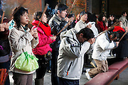 Local Taiwanese people come to pray and worship at Longson Temple.