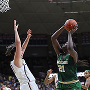 STORRS, CONNECTICUT- NOVEMBER 17: Kalani Brown #21 of the Baylor Bears attempts to shoot past Natalie Butler #51 of the UConn Huskies during the UConn Huskies Vs Baylor Bears NCAA Women's Basketball game at Gampel Pavilion, on November 17th, 2016 in Storrs, Connecticut. (Photo by Tim Clayton/Corbis via Getty Images)