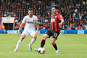 Enda Stevens (3) of Sheffield United and Adam Smith (15) of AFC Bournemouth in action during the Premier League match between Bournemouth and Sheffield United at the Vitality Stadium, Bournemouth, England on 10 August 2019.