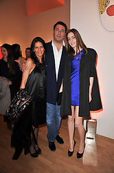 Left to right, BENEDETTA BRACHETTI, EDUARDO TEODORANI-FABBRI and DAVINA CORNISH at the TOD'S Art Plus Drama Party at the Whitechapel Gallery, London on 24th March 2011.