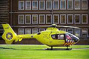 Nederland, Nijmegen, 9-10-2008 De traumahelikopter van de acute zorgregio oost heeft zojuist een patient naar het traumacentrum, seh, van het UMC St Radboud gebracht. Foto: Flip Franssen