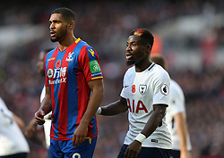 05 November 2017 Wembley : Premier League Football : Tottenham Hotspur v Crystal Palace : Ruben Loftus-Cheek of Palace is marked by Serge Aurier (right).<br /> <br /> Photo: Mark Leech.