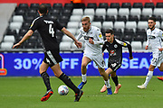 Oli McBurnie (9) of Swansea City on the attack during the EFL Sky Bet Championship match between Swansea City and Reading at the Liberty Stadium, Swansea, Wales on 27 October 2018.