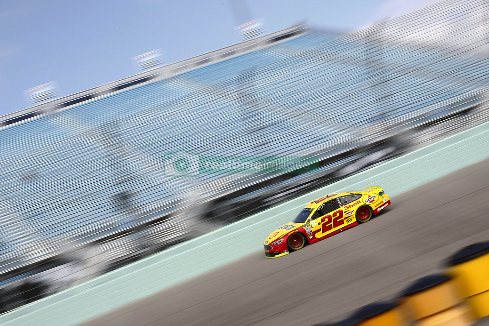 November 17, 2018 - Homestead, Florida, U.S. - Joey Logano (22) takes to the track to practice for the Ford 400 at Homestead-Miami Speedway in Homestead, Florida. (Credit Image: © Justin R. Noe Asp Inc/ASP)