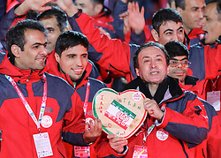 18.03.2017, Planai-Stadion, Schladming, AUT, Special Olympics 2017, Wintergames, Eröffnungsfeier, im Bild der Einmarsch der Delegation aus dem Iran // the delegation of Iran during the opening ceremony in the Planai Stadium at the Special Olympics World Winter Games Austria 2017 in Schladming, Austria on 2017/03/17. EXPA Pictures © 2017, PhotoCredit: EXPA / Martin Huber