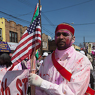 New York , the annual Holi Parade , Phagwah Parade, organized at the Richmond Hill, Queens,