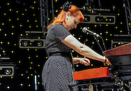 Carey Lander live on stage at ATP festival with Pavement. Carey keyboardist with indie-pop band Camera Obscura, passed away on 11 Oct 2015 after a long battle with a tumour. RIP