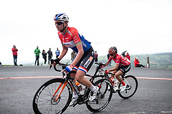 Chantal Blaak (NED) of Boels-Dolmans Cycling Team climbs on Black Mountain on Stage 6 of 2019 OVO Women's Tour, a 125.9 km road race from Carmarthen to Pembrey, United Kingdom on June 15, 2019. Photo by Balint Hamvas/velofocus.com