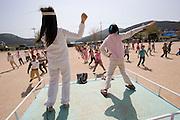 Geojedo (Geoje Island), Hallyeo Maritime National Park. School gymnastics.