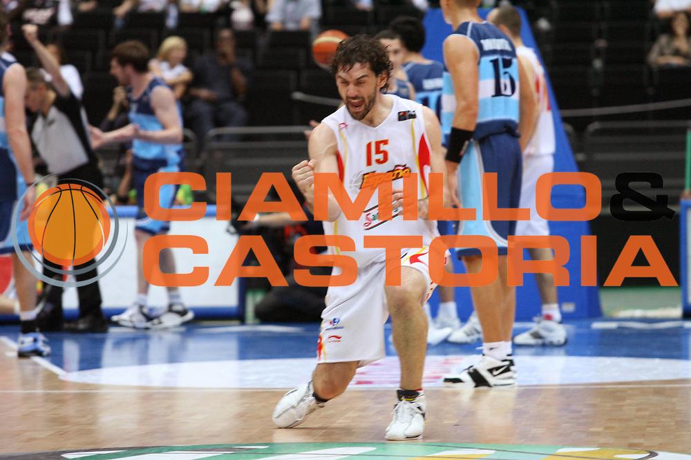DESCRIZIONE : Saitama Giappone Japan Men World Championship 2006 Campionati Mondiali Semifinal Spain-Argentina <br /> GIOCATORE : Garbajosa<br /> SQUADRA : Spain Spagna <br /> EVENTO : Saitama Giappone Japan Men World Championship 2006 Campionato Mondiale Semifinal Spain-Argentina <br /> GARA : Spain Argentina Spagna Argentina <br /> DATA : 01/09/2006 <br /> CATEGORIA : Esultanza<br /> SPORT : Pallacanestro <br /> AUTORE : Agenzia Ciamillo-Castoria/G.Ciamillo <br /> Galleria : Japan World Championship 2006<br /> Fotonotizia : Saitama Giappone Japan Men World Championship 2006 Campionati Mondiali Semifinal Spain-Argentina <br /> Predefinita :