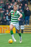 Kristoffer Ajer (#35) of Celtic FC runs forward during the Ladbrokes Scottish Premiership match between Livingston FC and Celtic FC at The Tony Macaroni Arena, Livingston, Scotland on 6 October 2019.