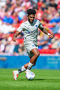 Ellis Harrison (#22) of Portsmouth FC during the EFL Sky Bet League 1 match between Sunderland and Portsmouth at the Stadium Of Light, Sunderland, England on 17 August 2019.