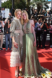 Nicole Kidman and Elle Fanning arriving on the red carpet of 'How to Talk to Girls at Parties' screening held at the Palais Des Festivals in Cannes, France on May 21, 2017 as part of the 70th Cannes Film Festival. Photo by Nicolas Genin/ABACAPRESS.COM
