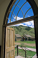 Interior of old building at Bannack State Park in Montana