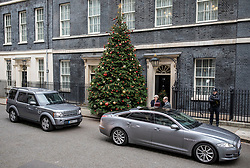 © Licensed to London News Pictures. 12/12/2018. London, UK. Prime Minister Theresa May leaves 10 Downing Street as she heads to Parliament for Prime Minister's Questions. She faces a vote of no confidence from her own party this evening. Photo credit: Rob Pinney/LNP