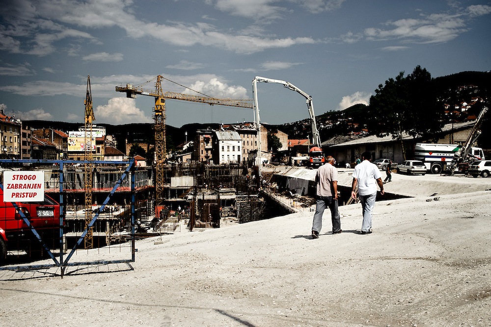 A construction site, Sarajevo, Bosnia Herzegovina