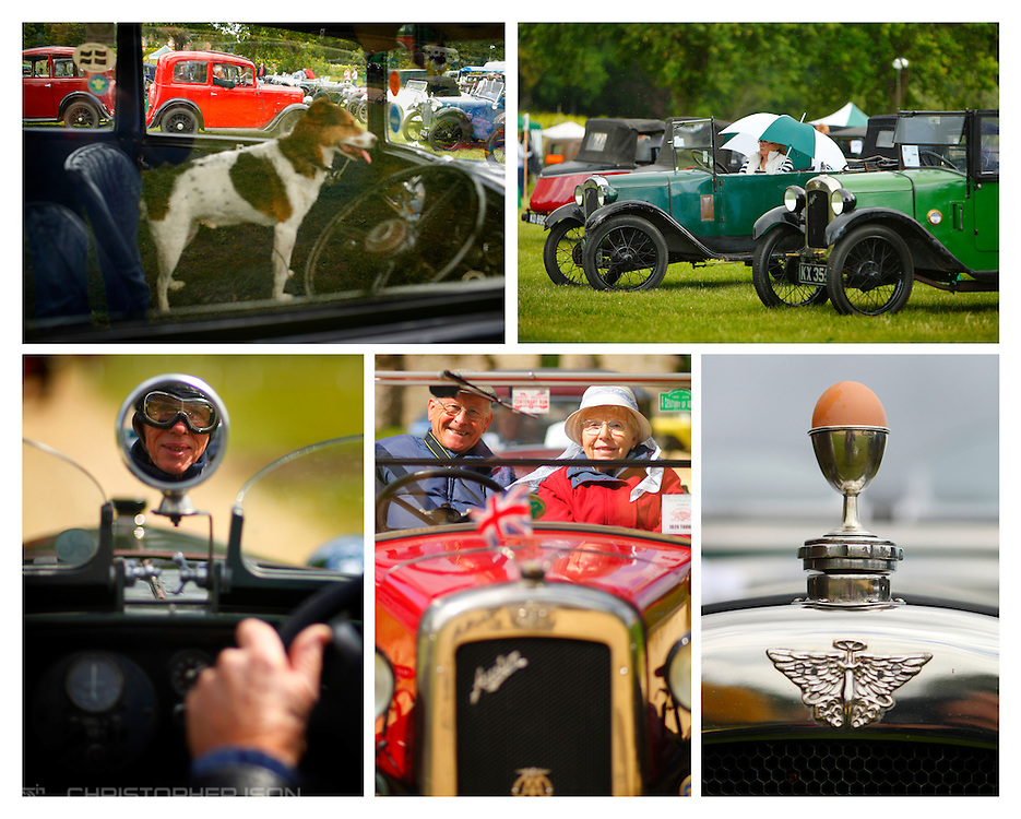 Cars gather at the 50th Austin 7 rally at the National Motor Museum in Beaulieu, Hampshire. 250 Austin 7's gathered to mark the 90th birthday of Sir Herbert Austin's famous little car. The members have gathered at the same venue annually since 1963.