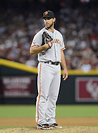 PHOENIX, AZ - JUNE 08:  Pitcher Madison Bumgarner #40 of the San Francisco Giants pitches against the Arizona Diamondbacks at Chase Field on June 8, 2013 in Phoenix, Arizona. The Giants defeated the Diamondbacks 10-5.  (Photo by Jennifer Stewart/Getty Images) *** Local Caption *** Madison Bumgarner