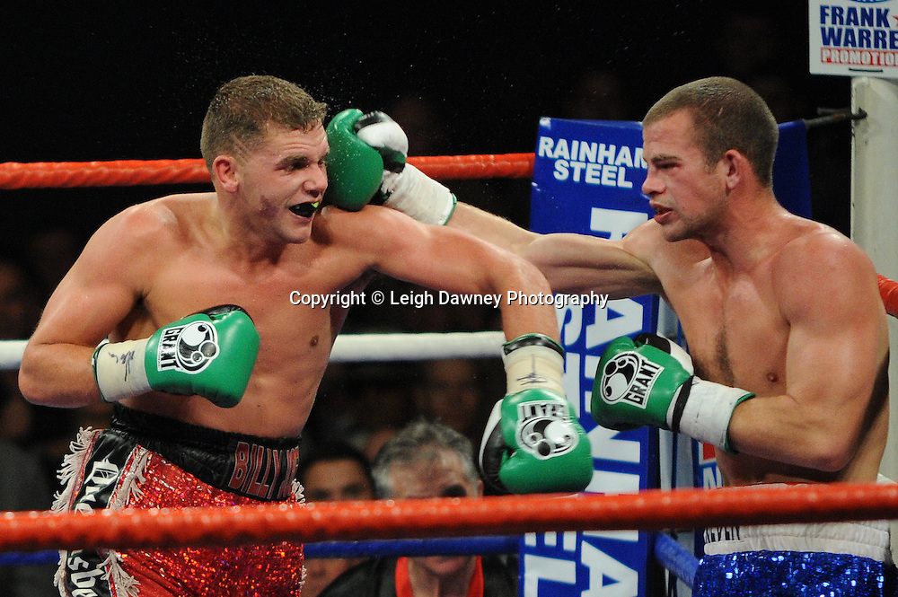 Billy Joe Saunders defeats Gary Boulden to claim the Southern Area Middleweight Championship at Wembley Arena on the 05.11.11. Promoter Frank Warren.Photo credit: © Leigh Dawney 2011.