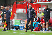 Luton Town Manager Nathan Jones during the EFL Sky Bet League 2 match between Crawley Town and Luton Town at the Checkatrade.com Stadium, Crawley, England on 17 September 2016. Photo by Phil Duncan.