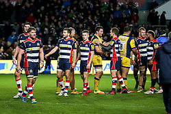 Bristol Rugby celebrate after Bristol Rugby win 28-21 - Rogan Thomson/JMP - 26/12/2016 - RUGBY UNION - Ashton Gate Stadium - Bristol, England - Bristol Rugby v Worcester Warriors - Aviva Premiership Boxing Day Clash.