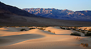 Sand Dunes Amid Mountain Peaks, Death Valley National Park, California, USA