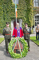 12/07/2015   repro free The National Day of Commmeoration Ceremony was held in NUI, Galway in honour of all those who irish mean nd women who died in past wars or on service with the UN . Commandant Shane Fahy , Mayor of Galway Cllr Frank Fahy and Sergeant Major Lambe were in attendance.<br /> Photo:Andrew Downes:XPOSURE