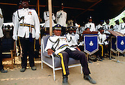 Soldiers waiting for a military parade to start in Nigeria
