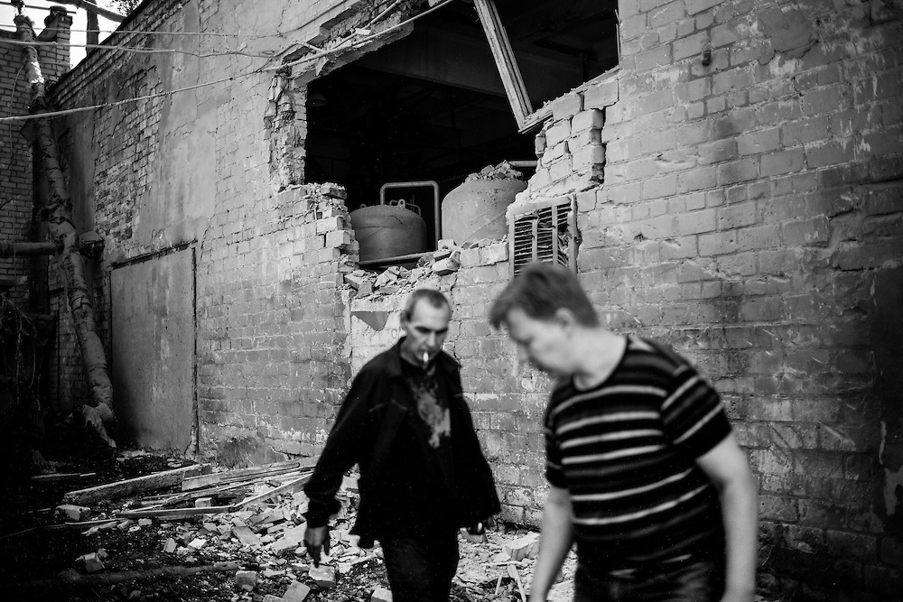 The shelling of the Kiyevsky district of Donetsk destroyed a couple of apartment buildings and a heating central.