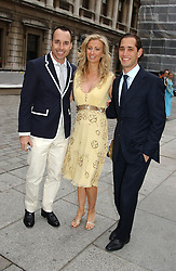 Left to right, DAVID FURNISH, JENNY HALPERN and her husband RYAN PRINCE at the Royal Academy of Arts Summer Exhibition Preview Party held at Burlington House, Piccadilly, London on 2nd June 2005<br />