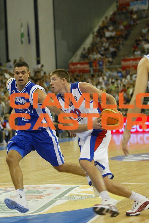 DESCRIZIONE : Granada Spagna Spain Eurobasket Men 2007 Russia Grecia Russia Greece <br /> GIOCATORE : Victor Khryapa <br /> SQUADRA : Russia <br /> EVENTO : Eurobasket Men 2007 Campionati Europei Uomini 2007 <br /> GARA : Russia Grecia Russia Greece <br /> DATA : 05/09/2007 <br /> CATEGORIA : Penetrazione <br /> SPORT : Pallacanestro <br /> AUTORE : Ciamillo&amp;Castoria/M.Metlas <br /> Galleria : Eurobasket Men 2007 <br /> Fotonotizia : Granada Spagna Spain Eurobasket Men 2007 Russia Grecia Russia Greece <br /> Predefinita :