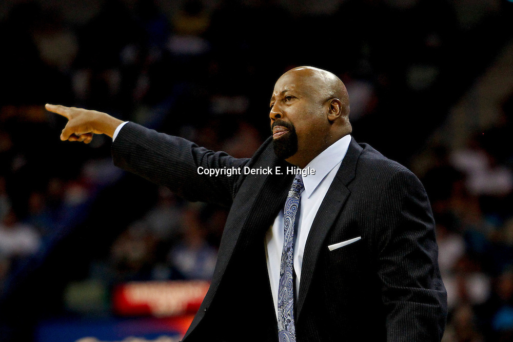 November 20, 2012; New Orleans, LA, USA; New York Knicks head coach Mike Woodson against the New Orleans Hornets during the second half of a game at the New Orleans Arena. The Knicks defeated the Hornets 102-80. Mandatory Credit: Derick E. Hingle-US PRESSWIRE