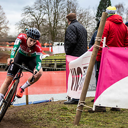 21-12-2019: Cycling : Waaslandcross Sint Niklaas: 19 year young Kata Blanka Vas from Hungary is performing strong thrughout this season