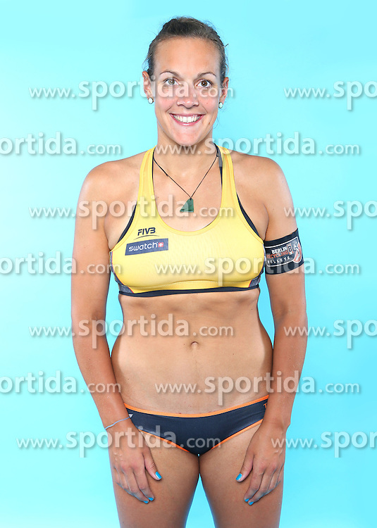 07.06.2016, Hamburg, GER, DVV Beachvolleyball, Fototermin, Nationalmannschaft, Olympische Spiele, Rio 2016, im Bild Victoria Bieneck (GER) // Victoria Bieneck of Germany during photocall of German Beach Volleyball team of German Cycling Federation for the Olympic games, Rio 2016. Hamburg, Germany on 2016/06/07. EXPA Pictures &copy; 2016, PhotoCredit: EXPA/ Eibner-Pressefoto<br /> <br /> *****ATTENTION - OUT of GER*****