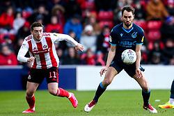Edward Upson of Bristol Rovers takes on Lynden Gooch of Sunderland - Mandatory by-line: Robbie Stephenson/JMP - 22/02/2020 - FOOTBALL - Stadium of Light - Sunderland, England - Sunderland v Bristol Rovers - Sky Bet League One