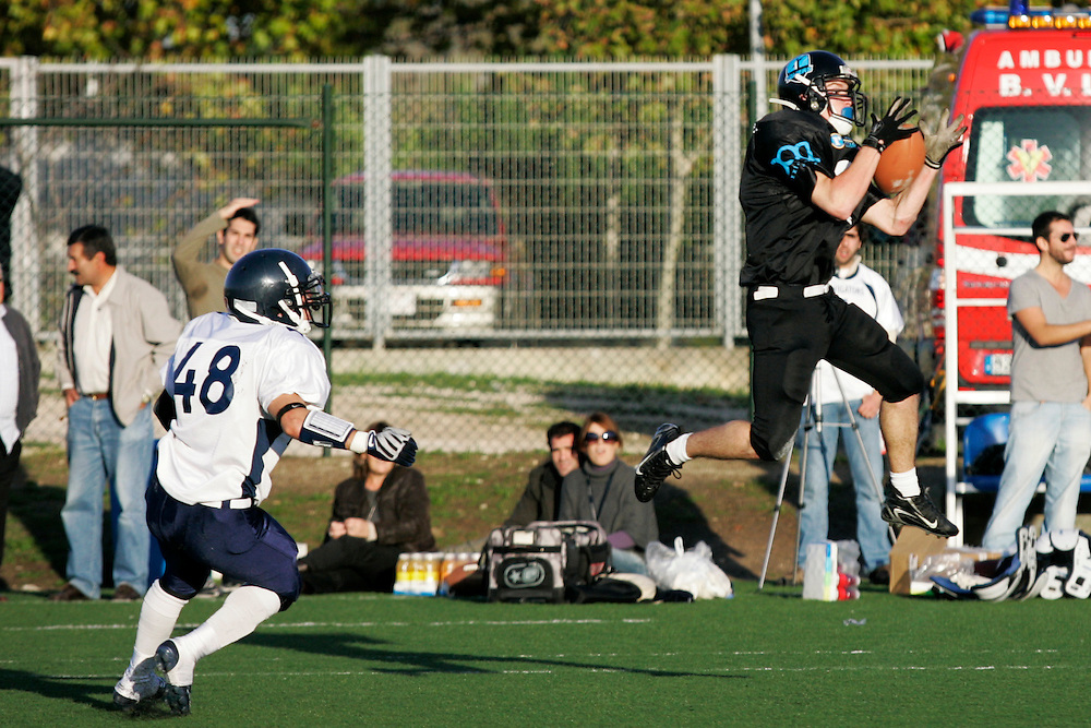 (Lisbon, Portugal - November 22, 2009) - The Galicia Black Towers travel to play the Lisbon Navigators in Lisbon for their first game on Sunday. The Navigators won 50-6...Photo by Will Nunnally / Will Nunnally Photography