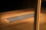 yoga mat reflecting in window