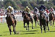 DAKOTA GOLD (1) ridden by Connor Beasley and trained by Michael Dods winning The Listed LNER Supporting CALM Garrowby Stakes over 6f (£50,000) duing the Family Race Day held at York Racecourse, York, United Kingdom on 8 September 2019.